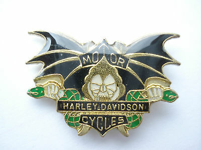 Sale - Rare Bat Harley Davidson Motorcycles Biker Cafe Bike Hog Racing Pin Badge