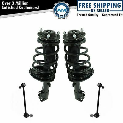 Front Suspension Kit Strut & Spring Assemblies with Sway Links for Toyota Lexus