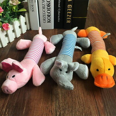 Dog Toy Pet Puppy Plush Sound Chew Squeaker Squeaky Pig Elephant Duck Toy Noted