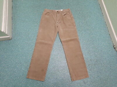 """Next Loose Fit Cord Jeans Waist 32"""" Leg 32"""" Faded Light Brown Mens Cord Jeans"""