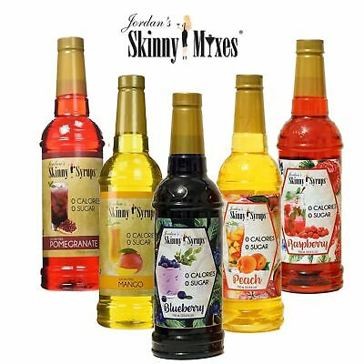 Jordan's Skinny Syrups Fruit Punch Iced Tea Cocktail Syrup Sugar Free 0 Calorie