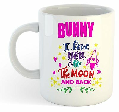Conejito - i Love You To The Moon And Back Taza - Divertido Named San Valentín