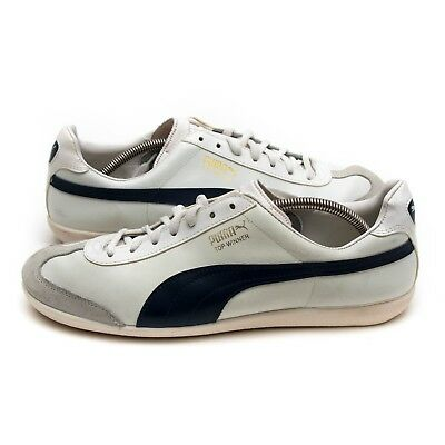 PUMA TOP WINNER Vintage Lace Up Mens Whisper White Trainers 348421 ... 49d236d622f06