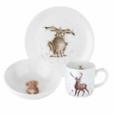 Wrendale By Royal Worcester - 3-Piece Side Plate/Bowl and Mug Set