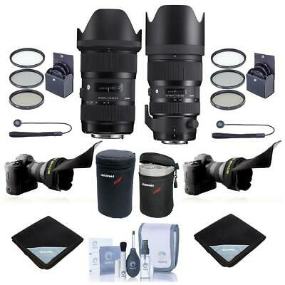 Sigma 18-35mm F/1.8 /50-100mm f/1.8 DC HSM ART Lens for Canon EOS W/Free Acc