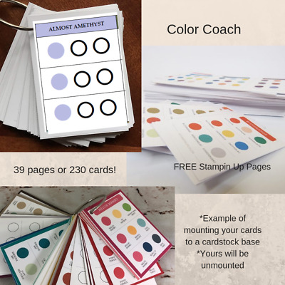 Stampin Up Paper Cardstock Reference Tool All Color Chart Color Coach