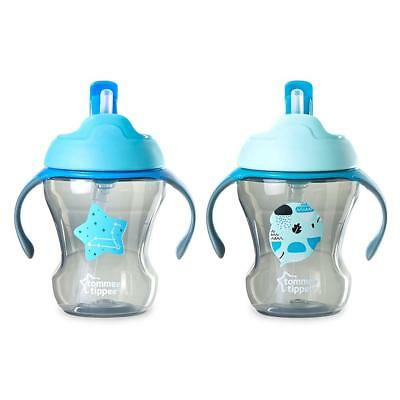 Tommee Tippee Trainer Straw Cup 2-Pack - Blue/Green