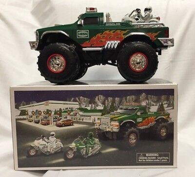 New In Box- 2007 Hess Monster Truck With Motorcycles Excellent Condition