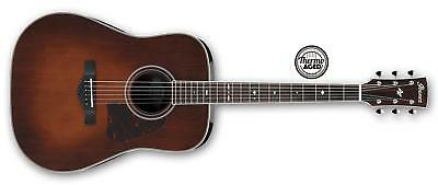 Ibanez AVD10 Thermo Aged Dreadnought Acoustic, Brown Violin Sunburst