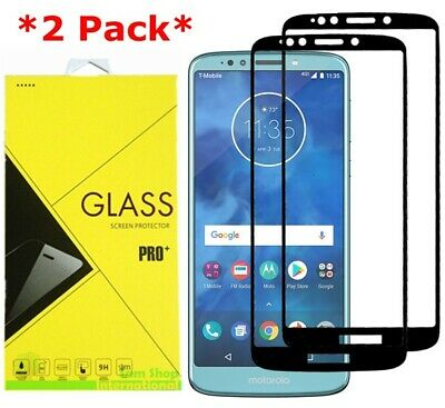 2-Pack For Motorola MOTO E5 Plus Full Coverage Tempered Glass Screen Protector