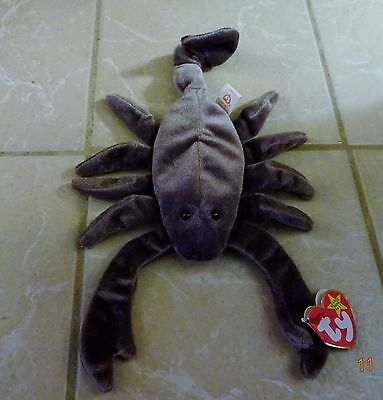 """Ty Beanie Baby """"Stinger"""" The Scorpion from The Beanie Babies Collection - MWMT"""