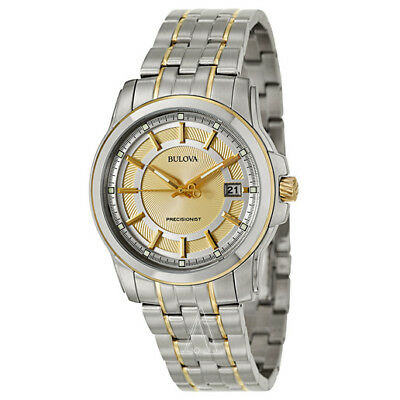 Bulova Precisionist Langford Quartz Two Tone Dial Mens 98B156 Watch