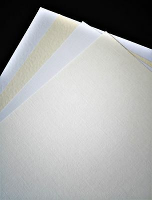 A4 Textured Card White  Ivory  Hammer  Linen Approx 250gsm