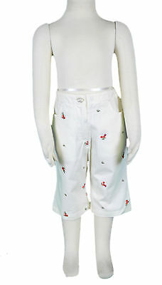 JACADI Girls Croche Natural/Multi 3/4 Length Trousers Size: 5 Years NWT