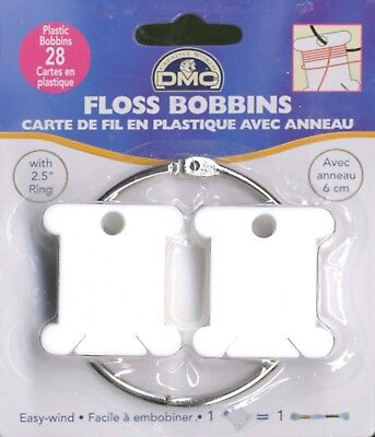 Plastic Floss Bobbin & Ring DMC Cross Stitch Needlepoint Sewing Notion