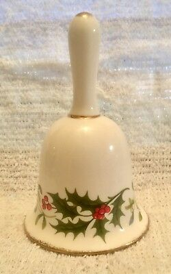 Vintage? Brinton Christmas Holidays Bone China Bell Holly Berries Clapper Intact