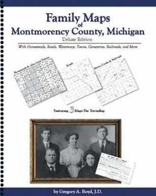 Family Maps of Montmorency County, Michigan