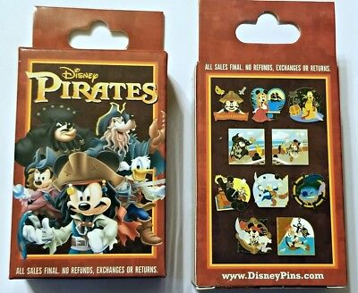 Disney Collectible Pin Pack PIRATES Caribbean Mystery Box of 2 Pins Sealed NEW