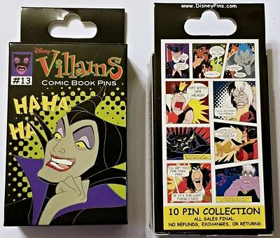 Disney Collectible Pin Pack VILLAINS COMICS Mystery Box of 2 Pins Sealed NEW
