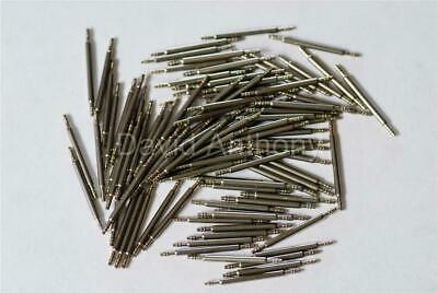 100 x 20mm SPRING BARS 1.3mm THICK.  DOUBLE FLANGE SHOULDER. WATCH PINS