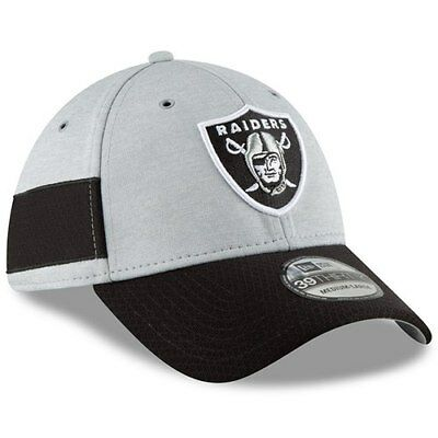 46589794c74 Oakland Raiders New Era 2018 NFL Sideline Home Official 39THIRTY Flex Hat -