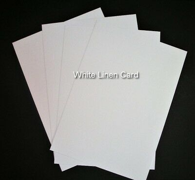 A4 White Linen Embossed Card (250gsm)