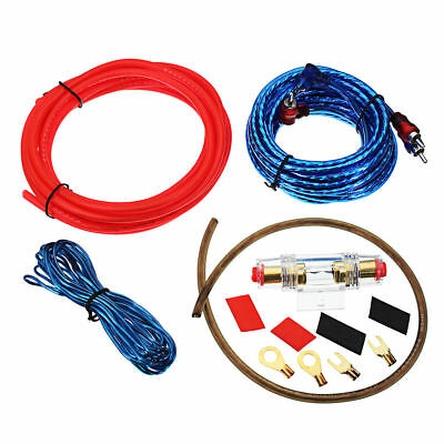 1500W Car Amplifier Wire Wiring Kit 10GA 60 AMP UK Car Audio Sub/Amp Power Cable