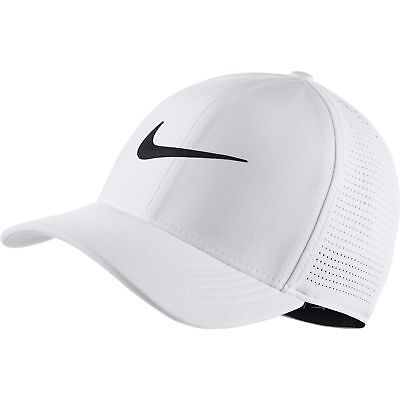 5b345919b4ec8 NEW 2019 NIKE Aerobill Classic 99 White Black Fitted M L Hat Cap ...