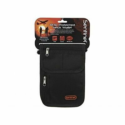 Sentinel Body Wallet Money RFID Protected Travel Pouch With Neck Cord Security