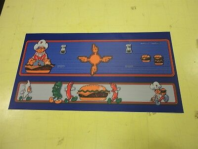Burgertime Arcade Game control panel overlay