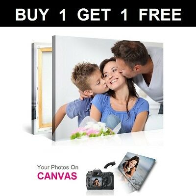 Buy 1 Get 1 Free Personalised Photo on Canvas Print Framed A0 A1 A2 A3 A4 A5_