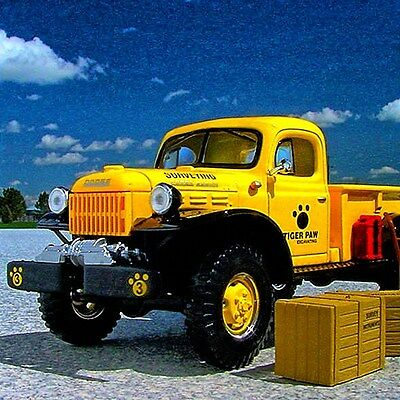 NEW and ON SALE - TIGER PAW EXCAVATING 1949 Dodge Power Wagon -  First Gear