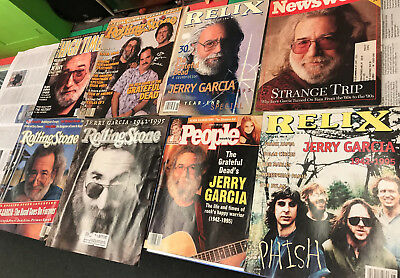 Lot Of 8 Magazines Rolling Stone/ People & More Jerry Garcia & Grateful Dead