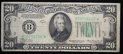 Series 1934-A $20 New York Federal Reserve Note Star Note