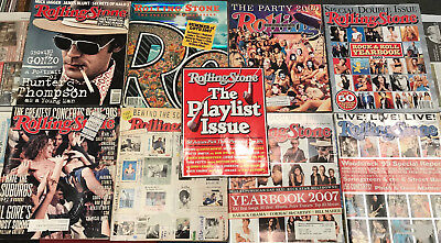 Lot Of 9 Rolling Stone Special Edition/ Double Magazines Late 90's Early 2000's