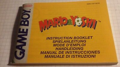 Game Boy Mario&Yoshi original Anleitung Instruction