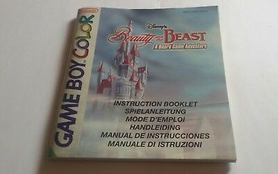 Game Boy Color Disneys Beauty and the Beast original Anleitung  Booklet