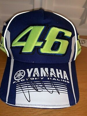 Valentino Rossi signed official 2018 Yamaha Racing Moto GP Cap + COA / Photo