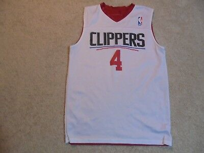 S Alleson Athletic CLIPPERS Reversible Basketball Jersey Tank SMALL Red  White  4 074271308