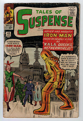 Tales Of Suspense #43 1.5 Early Iron Man Appearance 1963 Off-White Pages