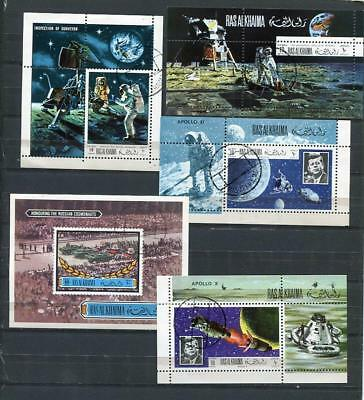 Worldwide 9 Souvenir Sheet and Stamps Space Used/CTO  5989