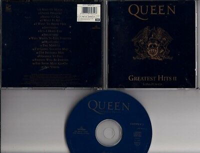 QUEEN Greatest Hits II 1991 ITALY CD LONG PLAY UNDER PRESSURE BOWIE