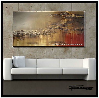 ABSTRACT PAINTING CANVAS Wall ART Framed, Signed, Large US  ELOISExxx