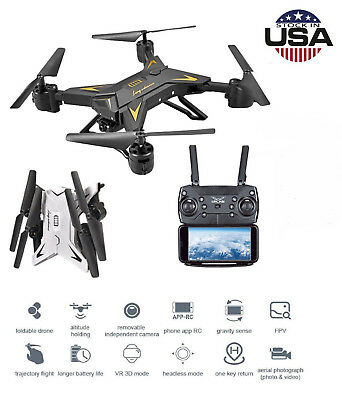 KY601S Drone RC Quadcopter With HD 5.0MP Camera 1080P Foldable 4CH Aircraft US Z
