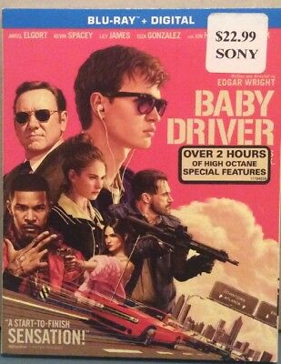 Baby Driver Blu Ray + Digital 2018 Brand NEW Sealed