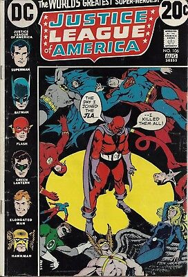 JUSTICE LEAGUE OF AMERICA #106  Aug 73