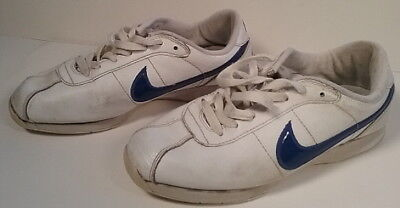 5389b3032f3 Nike Cortez Womens Size 7.5 Blue Swoosh Stamina Sneaker Shoes Cheerleading