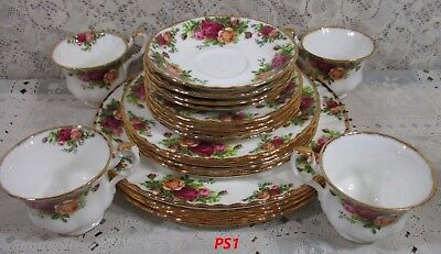 20 Royal Albert Old Country Roses 20 Pcs Place Setting Service For 4 England PS1