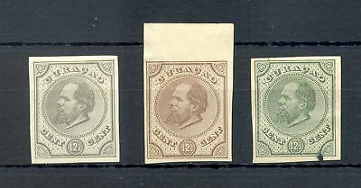 DUTCH WEST INDIES-CURACAO-1872-12½ Ct # 5-- 3 x -PROOF (*) 1 ST. SMALL SPOT