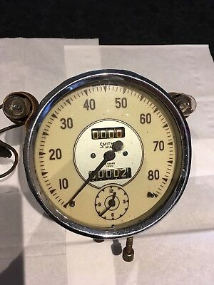 Smiths Speedometer With Clock. Serviced And Fully Working With Guarantee